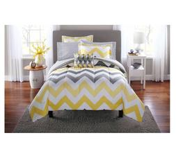 New 8 Piece Yellow Grey Full Size Comforter Set Bedding Beds
