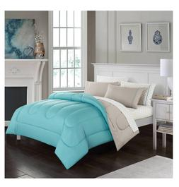 New Blush Queen Size Comforter Set Reversible Bedding Sheets