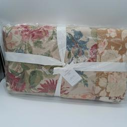New Pottery Barn Carolina Floral Patchwork Reversible King Q
