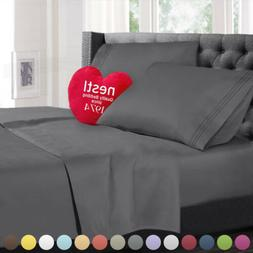 Double Brushed Soft Microfiber Hotel Style Bed Sheets, Deep