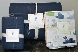 NEW Pottery Barn Kids EASTON Twin Quilt /Sham /Tugboat Sheet
