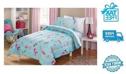 New Full Teal Mermaid Bedding Set Bed Sheets Comforter 1 Pil