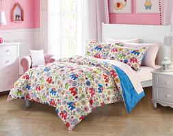 New Girl's Twin Size Comforter Set Elephant Bedding Sheets K