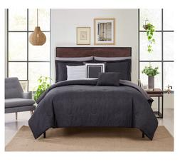 New Gray Queen Size Bed in a Bag 10 Piece Comforter Set Shee