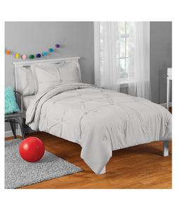 New Gray Twin Size Comforter Set Girl's Bedding Kid's Sheets