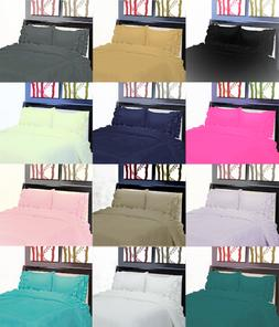 NEW GYPSY STYLE MICROFIBER PILLOW CASES FLAT FITTED BED SHEE