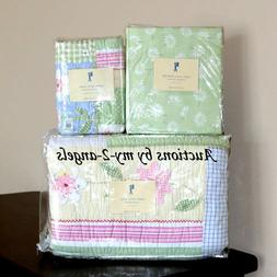 NEW Pottery Barn Kids Happy Daisy Floral Twin Quilt+Sham+She