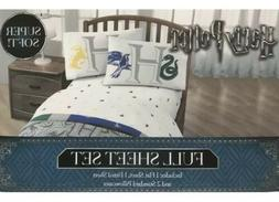 New Harry Potter Hogwarts Full Sheet Set Flat Fitted 2 Pillo
