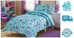 New Kids Butterfly Bed in a Bag Bedding Set Comforter Sham B
