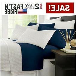 NEW Premium Bamboo Bed Sheet Set Ultra Soft & Cool And Comfo