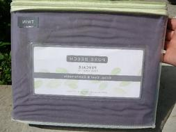 NEW PURE BEECH 300 THREAD COUND PERCALE TWIN SHEET SET @PURP