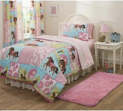 New Twin Size Mainstays Kid Country Meadows Horse Pony Bed