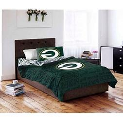 5 Piece NFL Green Bay Packers Comforter Queen Set, Sports Pa