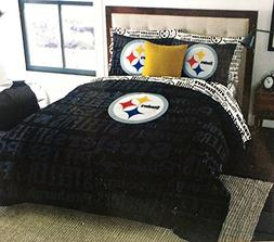 NFL Pittsburgh Steelers Football Queen Size Comforter and Sh