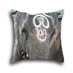 Oshiley Oil Painting Art Elephant Standard Pillow Cover Mate