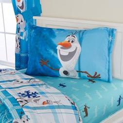 Disney Olaf 'Build A Snowman' Bedding Sheet Set , FULL