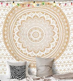 Greenpse Ombra Mandala Tapestry, Queen Indian Mandala Wall A