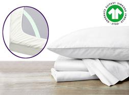 organic bed sheets with elastic straps adjustable