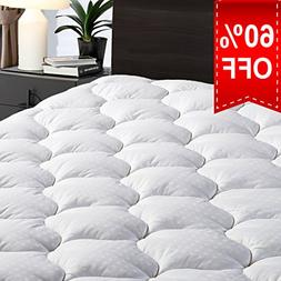 """LEISURE TOWN Twin Overfilled Mattress Pad Cover 8-21""""Deep"""