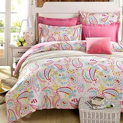 Cliab Paisley Bedding Pink Twin Or Queen For Teen Girls Duve