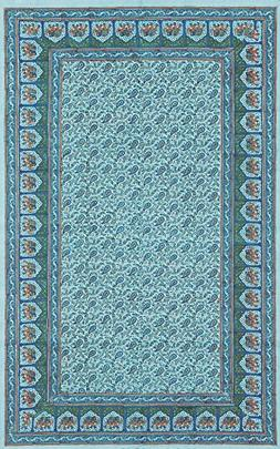 Paisley & Elephant Print Tapestry-Coverlet-Bedspread