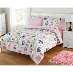 Paris Themed Bedding For Girls Twin Set Comforter French Poo
