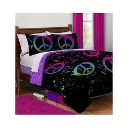 Peace Sign Bedding Set Teen For Girls Full Comforter Bed She