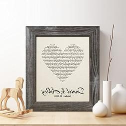 Personalized 2nd Cotton Anniversary Gift for Him or Her, Fir