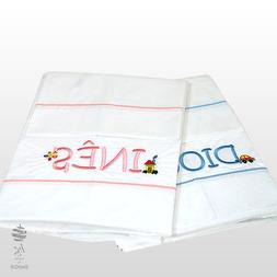 PERSONALIZED - SET KIDS BED SINGLE SHEETS 100% PERCALE + 1 P