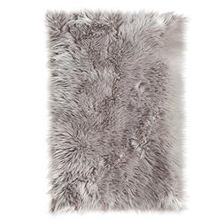 SLPR High Pile Rectangular Faux Sheepskin Rug  | Super Area