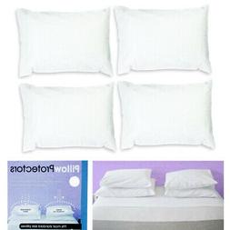 Set Of 4 Pillow Protector Cover Standard Size Pillowcase Sof