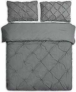 Pinzon Pinch Pleat Duvet Cover and 2 Shams - Full/Queen - Pe