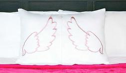 Pink Angel 3-in-1 Pillowcase, Pillow Sham, Part Bed Sheet Ki