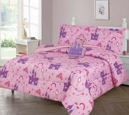 Pink Princess Palace Kids/Teens In a Bag COMFORTER Bed Castl