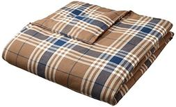Pinzon 160 Gram Plaid Velvet Flannel Duvet Cover - Full/Quee