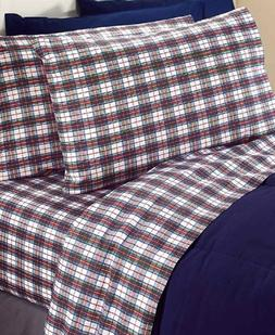 Plaid Winter Sheets Retro Novelty Style Warm Flannel Bedding