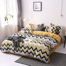 Plaid yellow black Bedding Set printing Bed line bed <font><