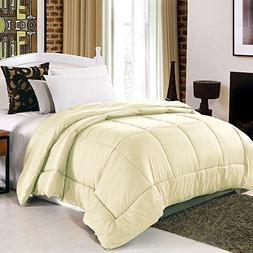 Anself Polyester Fiber Solid Winter Quilted Comforter Quilt