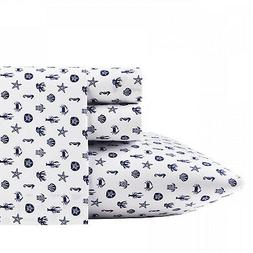 Poppy & Fritz Sea Icons 4-Pc Sheet Set, T200 Percale Cot