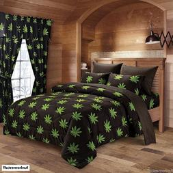 6 PIECE 420 HERB BUD POT WEED LEAF MICROFIBER BED SHEETS SUP