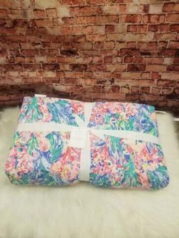POTTERY BARN LILLY PULITZER REVERSIBLE QUILT KING CAL KING S