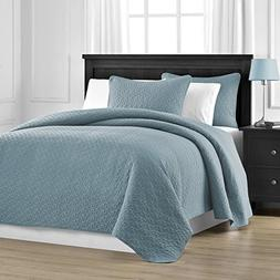 Prewashed Durable Comfy Bedding Jigsaw Quilted 3-piece Bedsp
