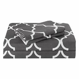 HOMEIDEAS Printed Pattern Bed Sheets Set Extra Soft