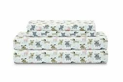 Puppy Love Print Sheet Set - TWIN  WHITE Bed Blanket Kids Do