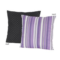 Purple and Black Stripes/Dots Kaylee Decorative Accent Throw