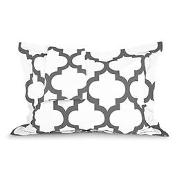 Sleep Restoration Quatrefoil Shams 2-Pack - Luxurious Soft B