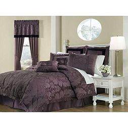 OS 8-piece Queen-size Comforter Set, Damask with Beautiful F