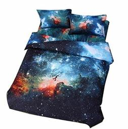 Queen Bedding For Boys Girls Galaxy Bed Sheets Kids Outer Sp