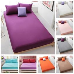 Queen Cotton Bed Fitted Sheets Set Comfort Bedding Cover Bed