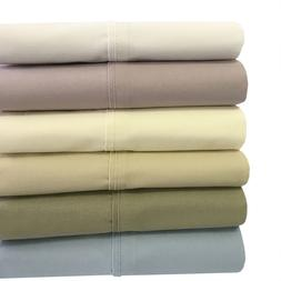 Queen Size Bed Sheet Set-100% Cotton Deep Pocket Percale 4PC